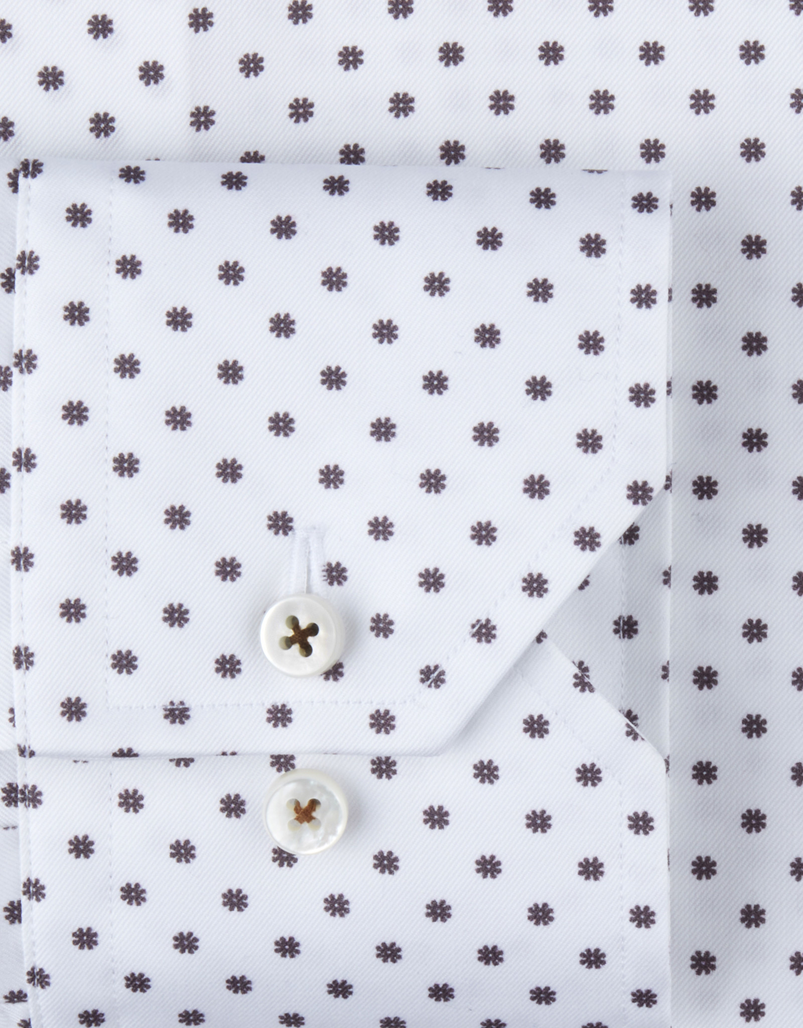 Stenströms Stenströms hemd wit bloemetjes Slimline 712771-7536/011