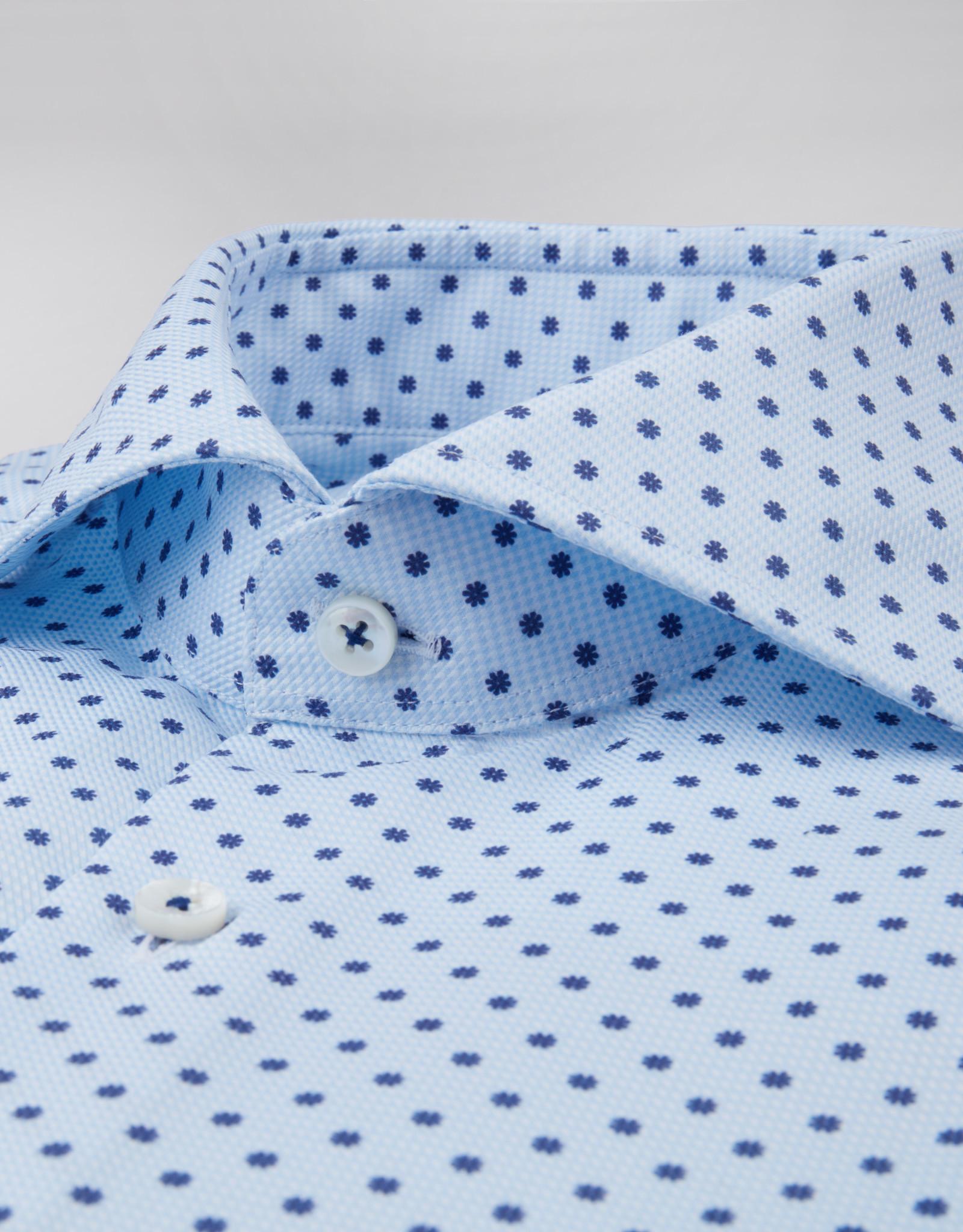 Stenströms Stenströms hemd lichtblauw bloemmotief Slimline712111-7538/101