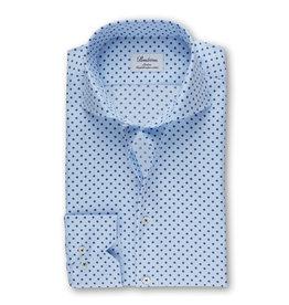 Stenströms Stenströms hemd lichtblauw bloemmotief Slimline
