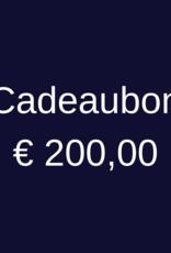 Cadeaubon 200 euro