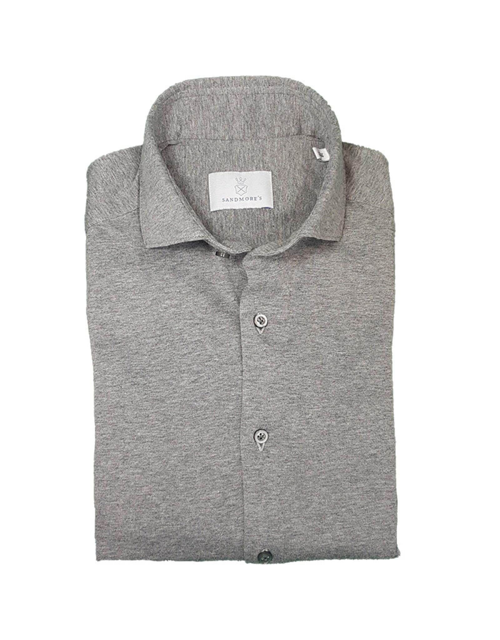 Ghirardelli Sandmore's hemd jersey grijs Semi-slim J553