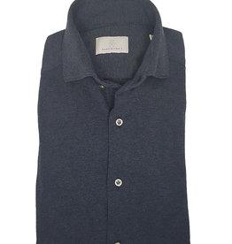 Ghirardelli Sandmore's hemd jersey donkerblauw Semi-slim