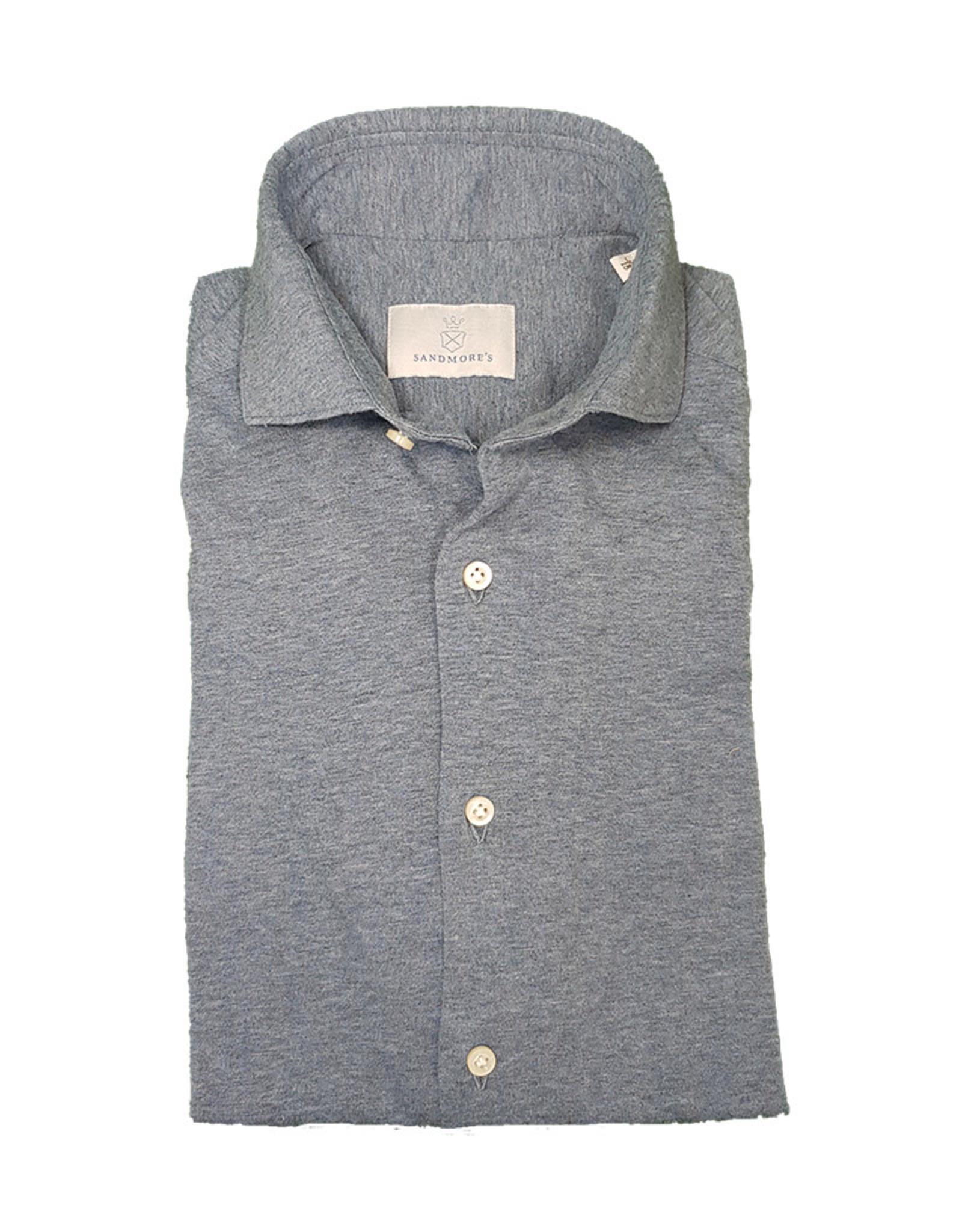 Ghirardelli Sandmore's hemd jersey lichtblauw Semi-slim J553