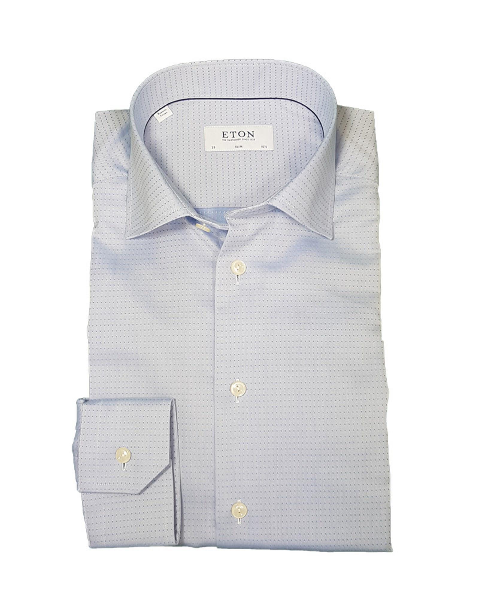 Eton Eton hemd lichtblauw gestipt Slim  3403-79511/22