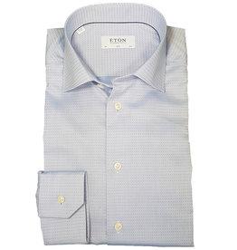 Eton Eton hemd lichtblauw gestipt Slim