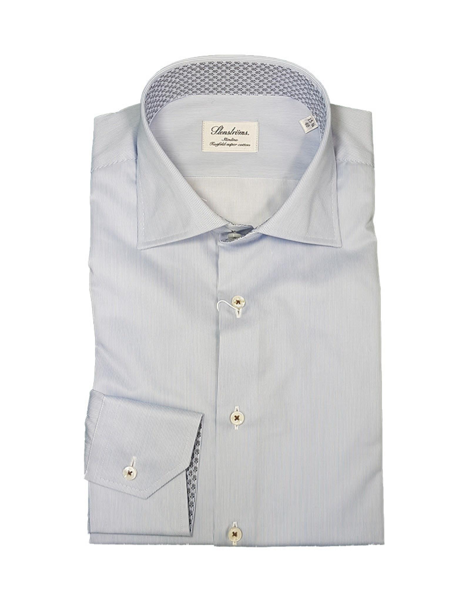 Stenströms Stenströms hemd lichtblauw gestreept Slimline 785771-1287