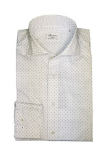 Stenströms Stenströms hemd wit met lichtblauw patroon Slimline 712111-5815/101