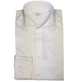 Stenströms Stenströms hemd wit met lichtblauw patroon Slimline