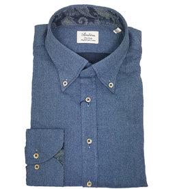 Stenströms Stenströms hemd blauw flannel fitted body