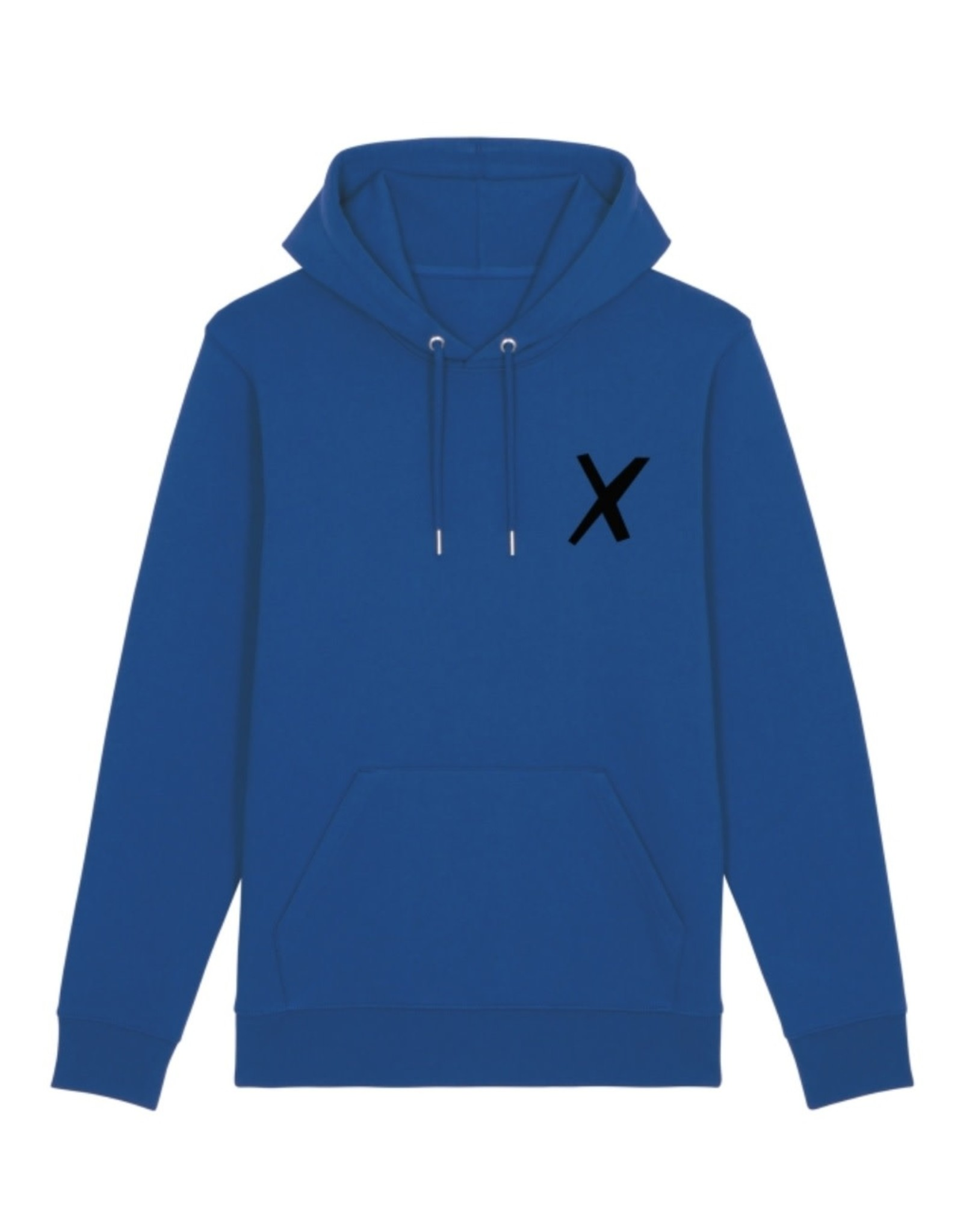 X-collection X-Hoodie cobalt blue real black