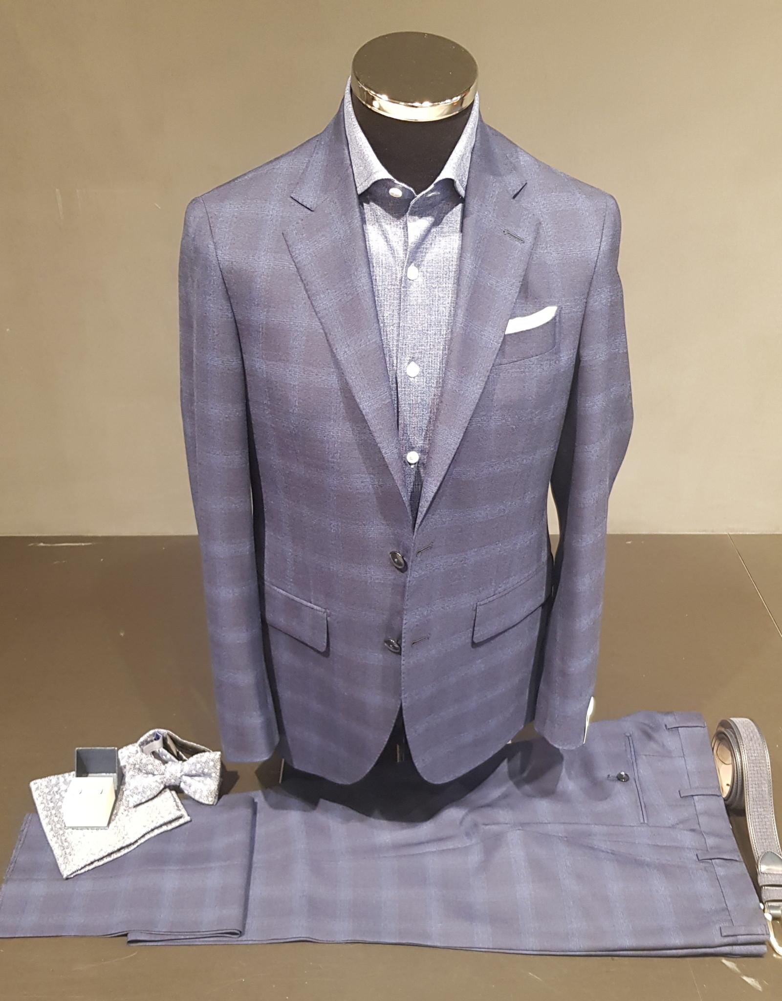 Latorre Gabiati kostuum blauw ruit  Q90583/1