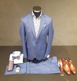 Latorre Gabiati kostuum blauw ruit
