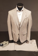 Latorre Gabiati kostuum grijs gestreept 3-delig R90212/1