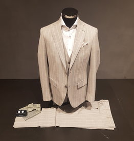 Latorre Gabiati kostuum grijs gestreept 3-delig