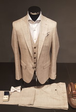 Latorre Gabiati kostuum beige ruit 3-delig Q90675/1