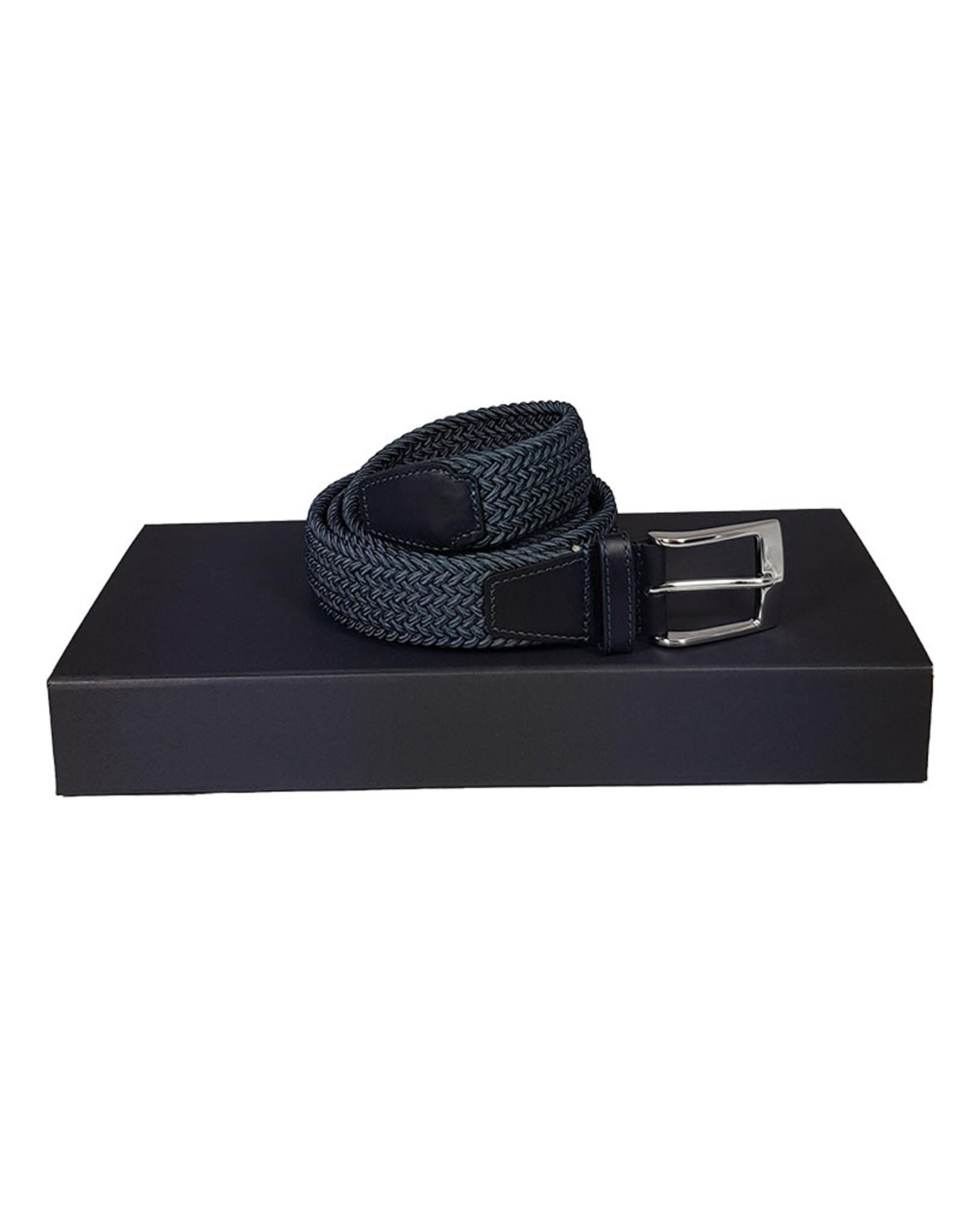 Belts+ Belts+ riem elastisch blauw Andreas 19628/007