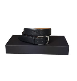 Belts+ Belts+ riem leder zwart Bull