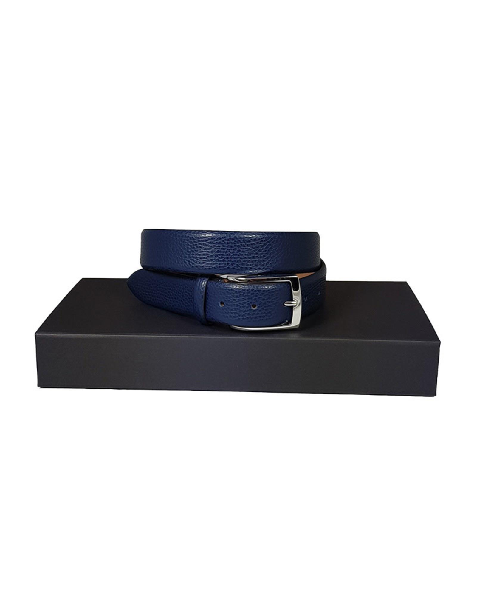 Belts+ Belts+ riem leder blauw Bull 20096/660