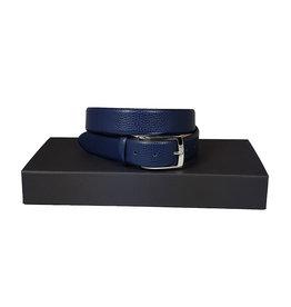 Belts+ Belts+ riem leder blauw Bull