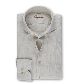 Stenströms Stenströms hemd linnen beige Fitted body