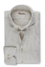 Stenströms Stenströms hemd linnen beige Slimline 775221-7970/210