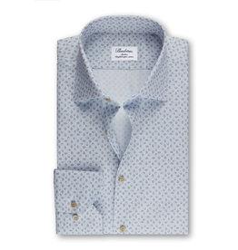 Stenströms Stenströms hemd lichtblauw-beige Fitted body