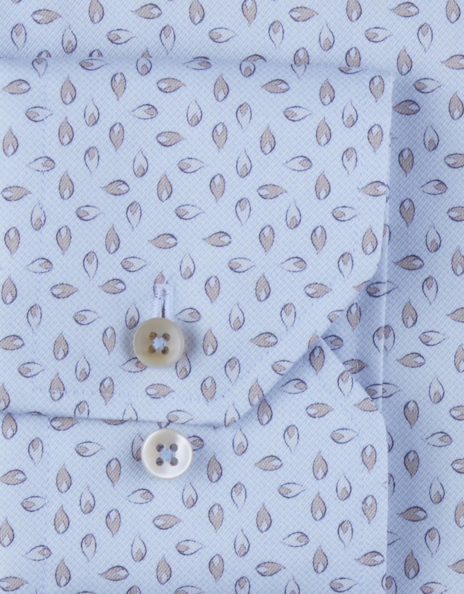 Stenströms Stenströms hemd lichtblauw-beige Slimline 712751-8117/101