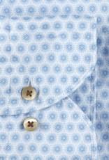 Stenströms Stenströms hemd wit-lichtblauw Fitted body 675221-8176/121