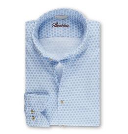 Stenströms Stenströms hemd wit-lichtblauw Fitted body