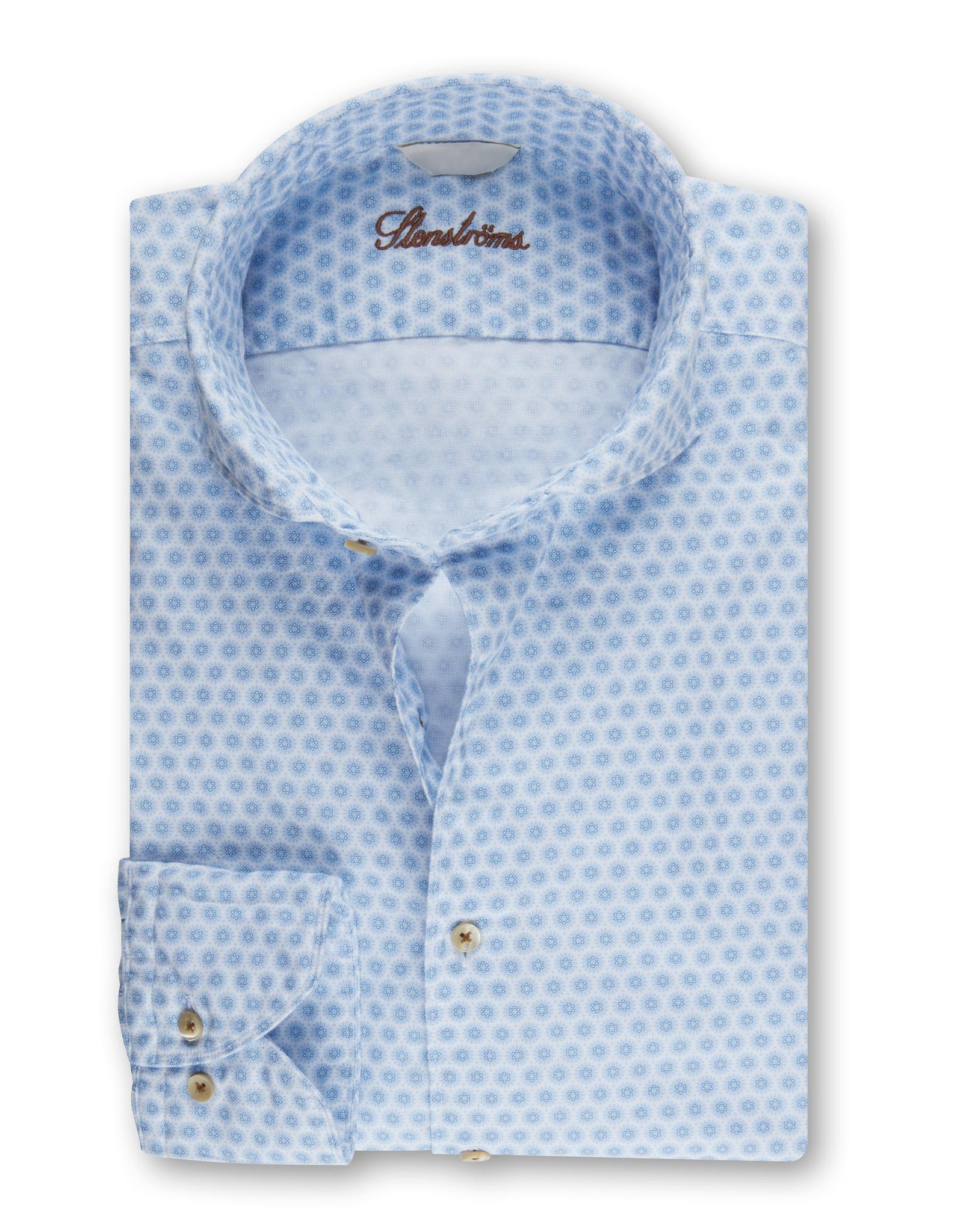 Stenströms Stenströms hemd wit-lichtblauw Slimline 775221-8176/121