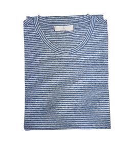 Gran Sasso Sandmore's T-shirt blauw-wit  gestreept