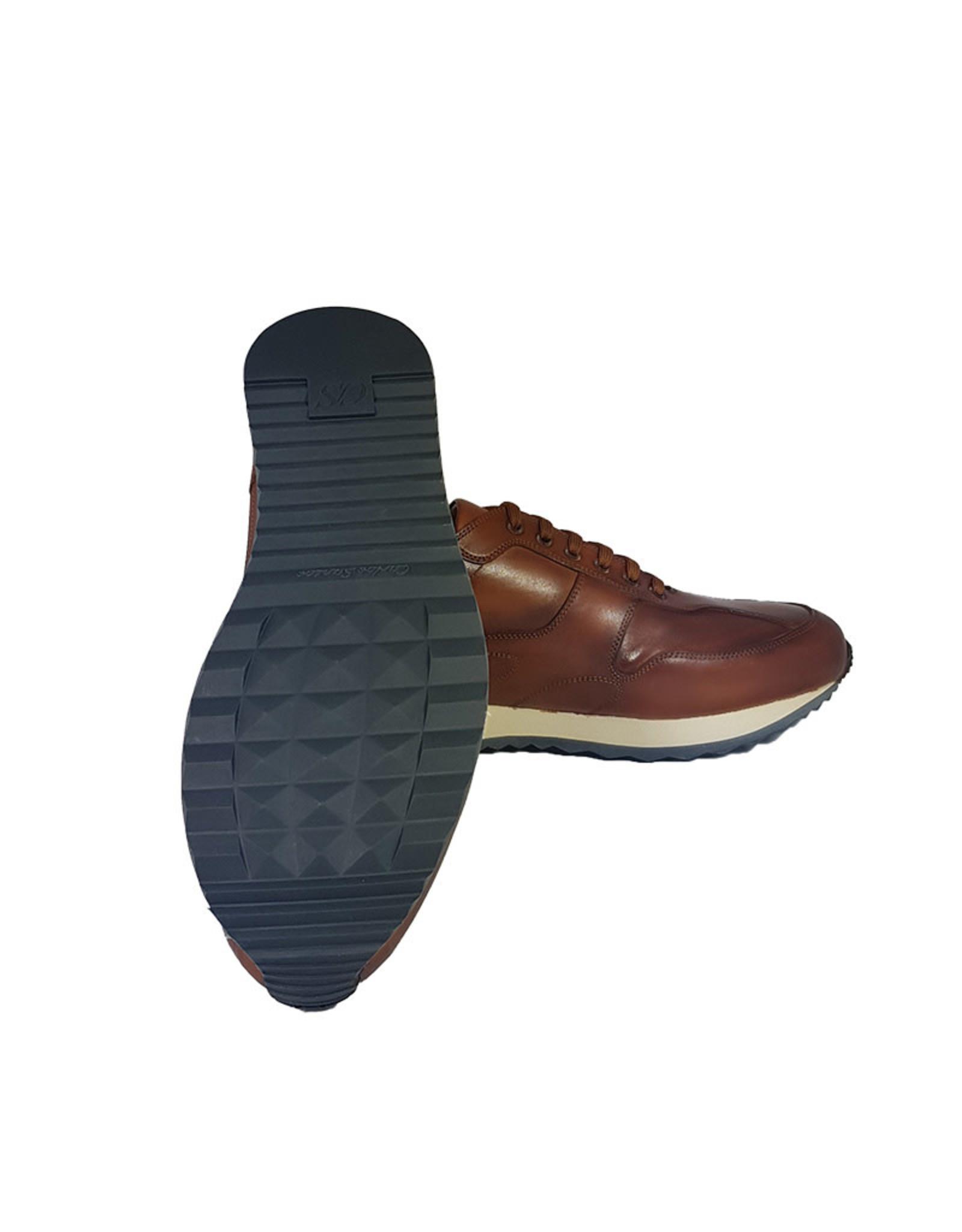 Carlos Santos Carlos Santos sneaker cognac 8894B Braga