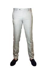 MMX MMX broek linnen beige gestreept Lynx 7230/33