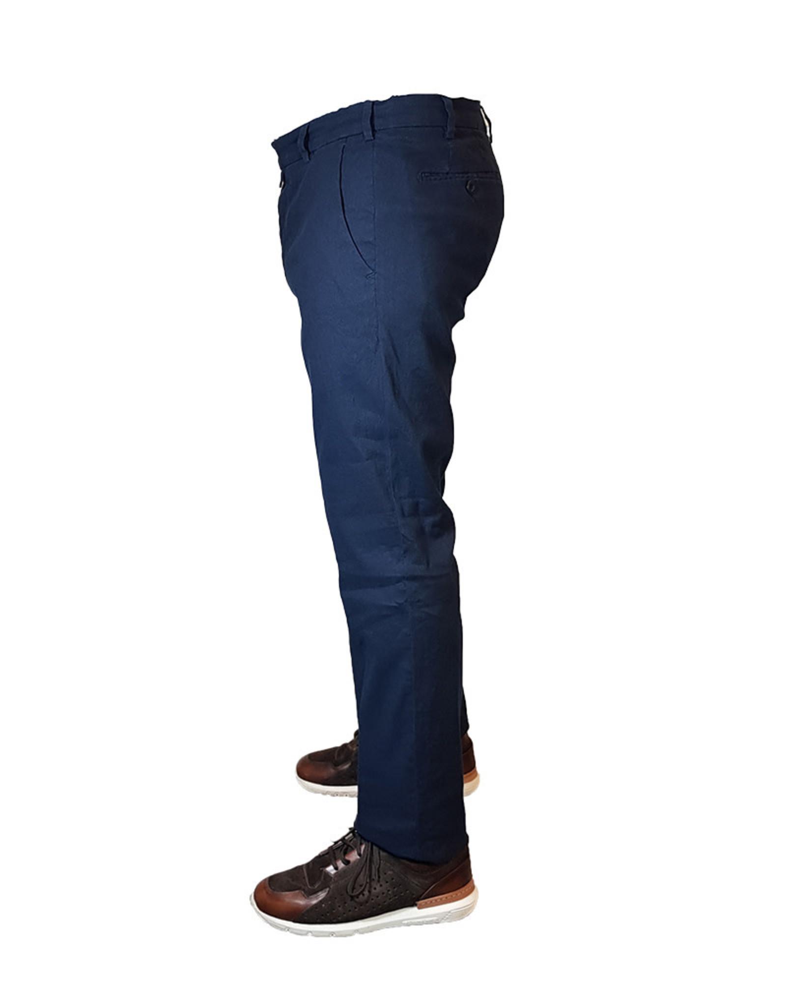 Meyer Exclusive Meyer Exclusive broek linnen blauw Bonn 8064/18