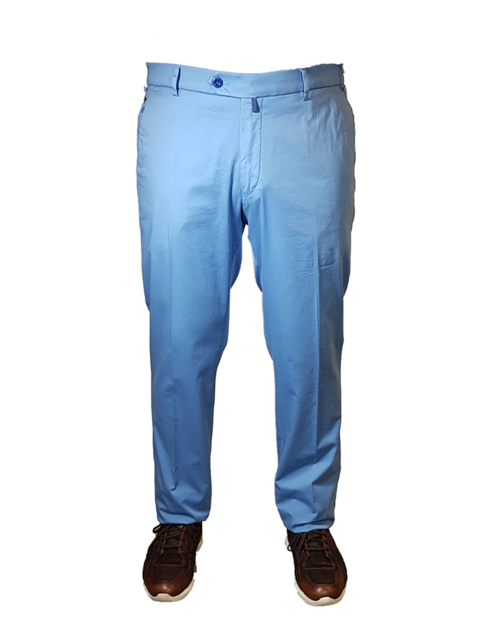 Meyer Exclusive Meyer Exclusive broek katoen lichtblauw 8045/15