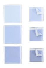 Perofil Perofil zakdoeken blauw 3 paar Fazzoletti