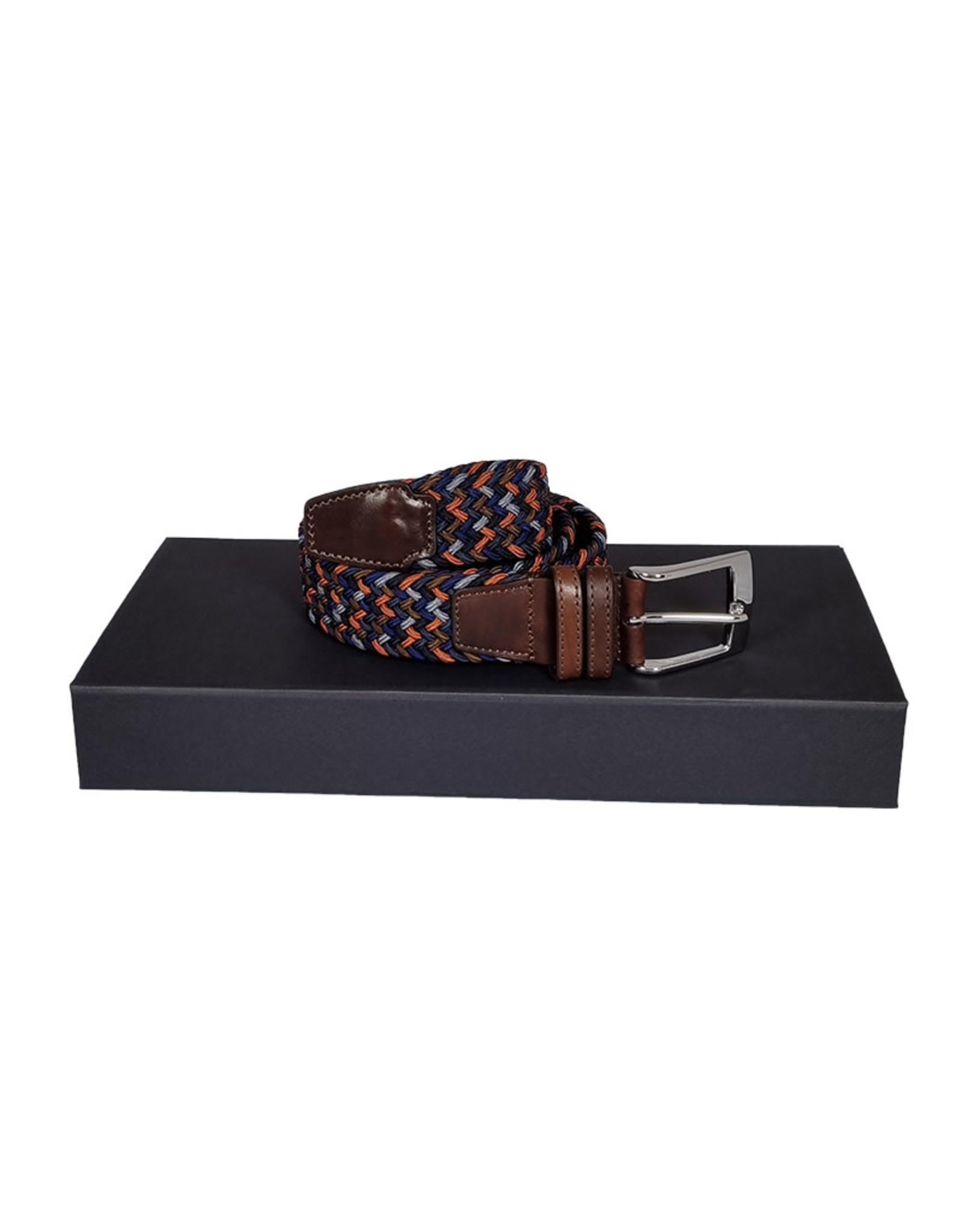 Belts+ Belts+ riem elastisch blauw-bruin-oranje Aimar 19628/001