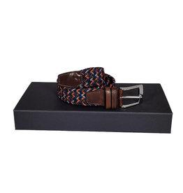 Belts+ Belts+ riem elastisch blauw-bruin-oranje Aimar