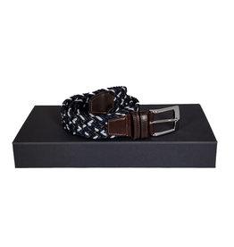 Belts+ Belts+ riem elastisch blauw-grijs Aimar