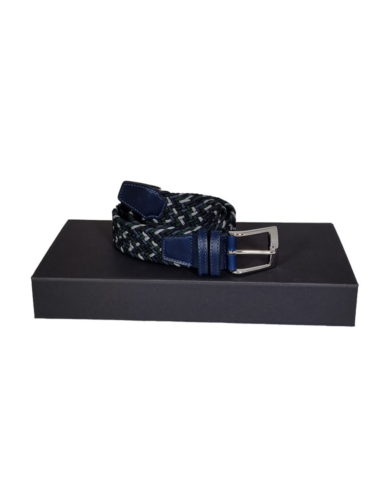 Belts+ Belts+ riem elastisch blauw-groen Aimar 19628/017