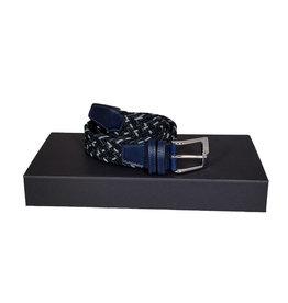 Belts+ Belts+ riem elastisch blauw-groen Aimar