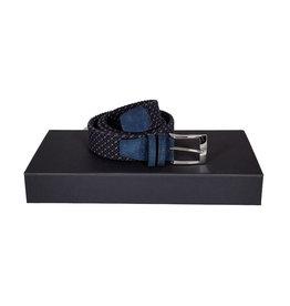 Belts+ Belts+ riem elastisch blauw-bruin Jetro