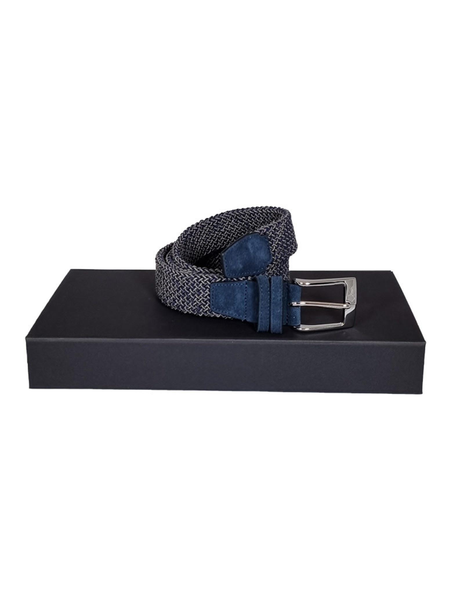 Belts+ Belts+ riem elastisch grijs-blauw Galenco 19628/001