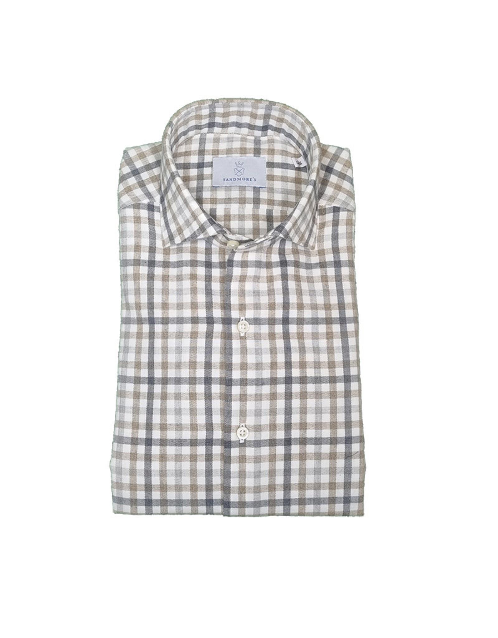 Ghirardelli Sandmore's hemd grijs-beige Contemporary F7034/04