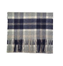 Johnstons of Elgin Johnstons of Elgin sjaal cashmere grijs-blauw ruit