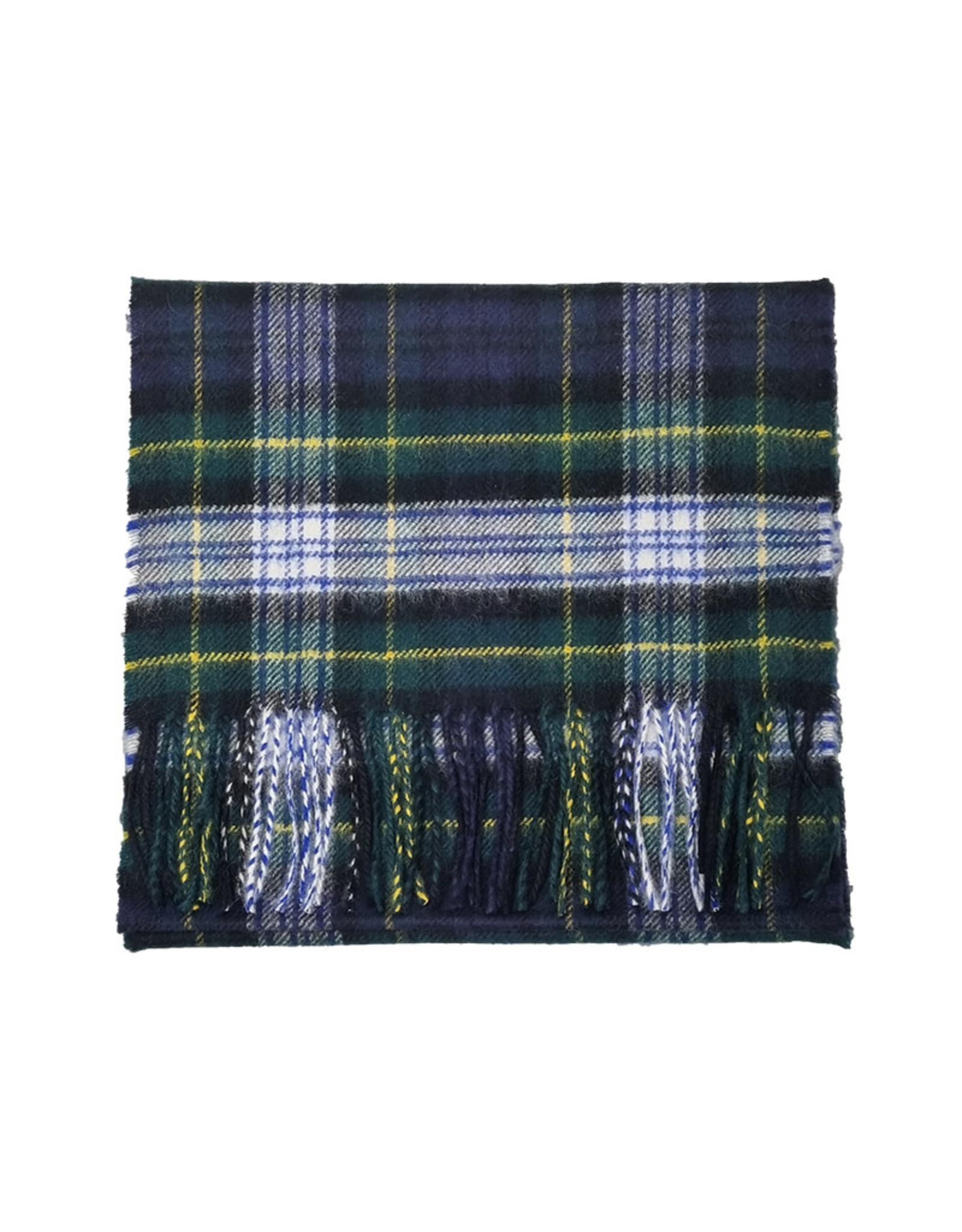 Johnstons of Elgin Johnstons of Elgin sjaal cashmere groen-blauw ruit