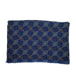 Calabrese Calabrese sjaal blauw medaillon