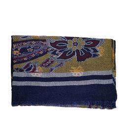 Calabrese Calabrese sjaal blauw fantasie