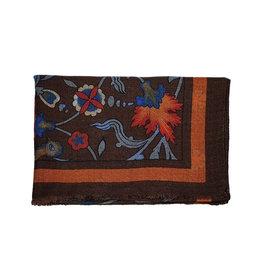 Calabrese Calabrese sjaal bruin-oranje fantasie