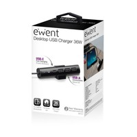 Ewent | USB Hub | 1x USB-C | 3x USB-A | Fast Charging
